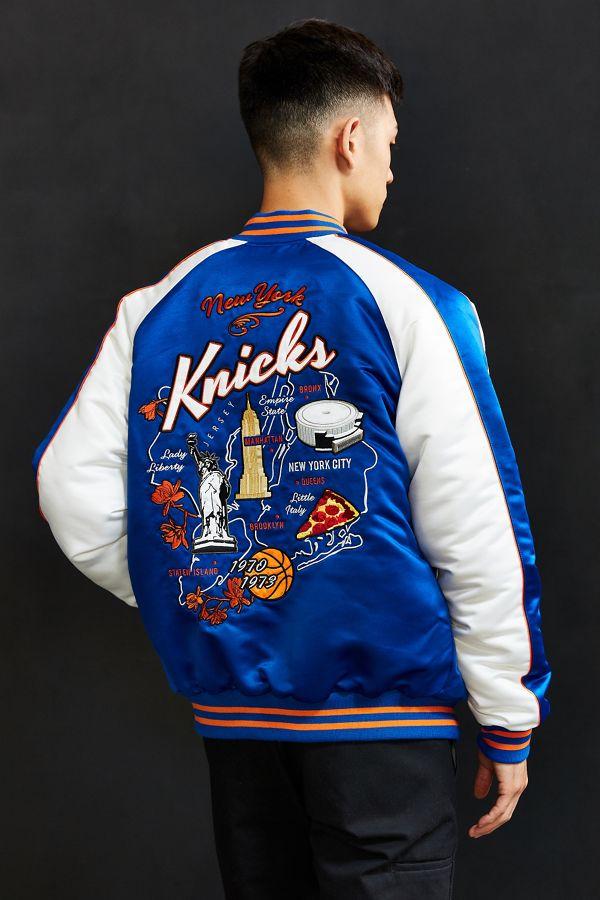 Basketball Romantic New Majestic New York Knicks Mens Size M Medium Blue Shirt Msrp