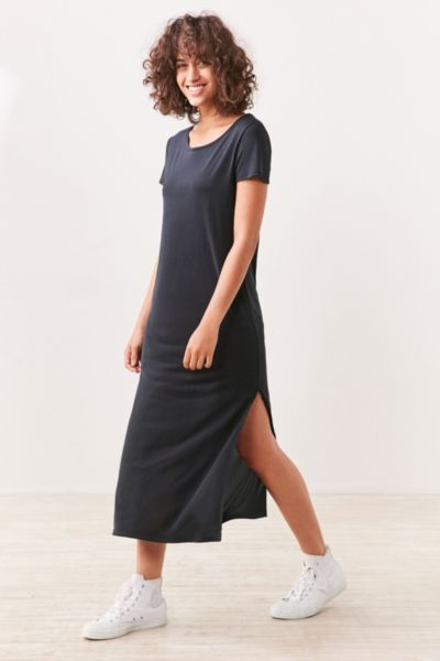 midi t shirt dress with slits