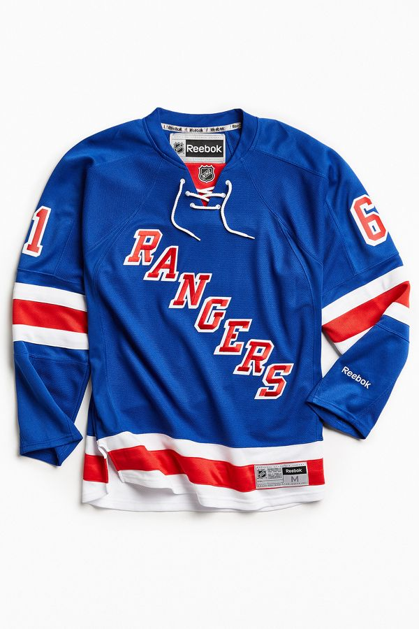 sale retailer 278fc 7dd51 Reebok NHL Premium Rangers Hockey Jersey