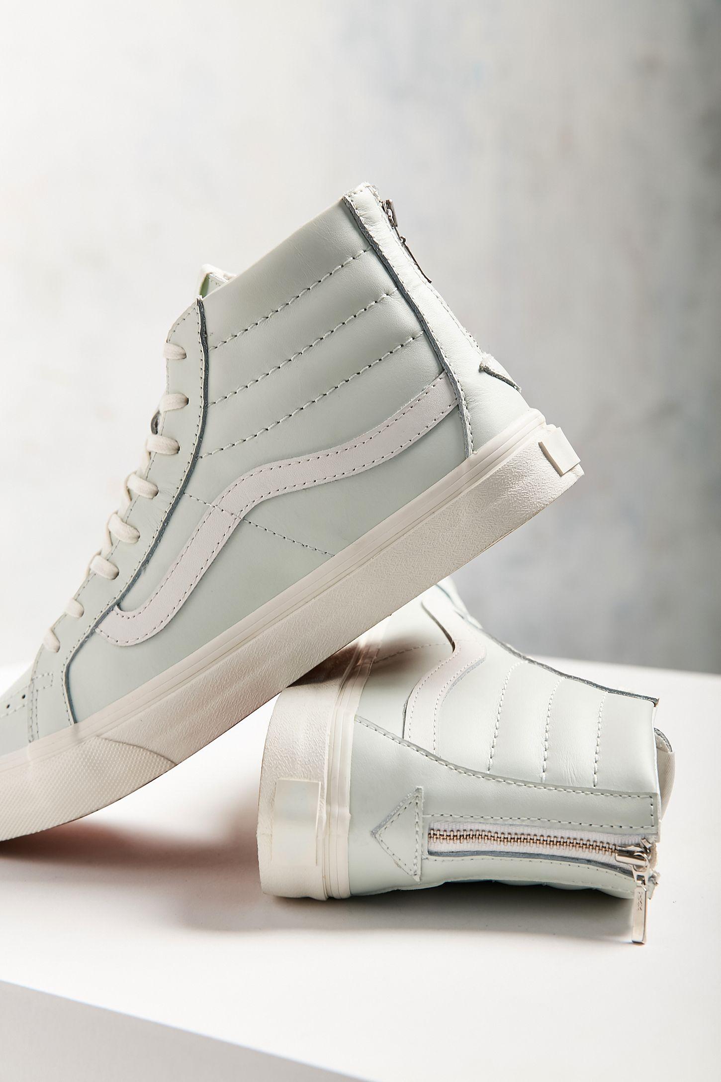 471e9bd87cf45c Vans Leather Sk8-Hi Slim Zip Sneaker