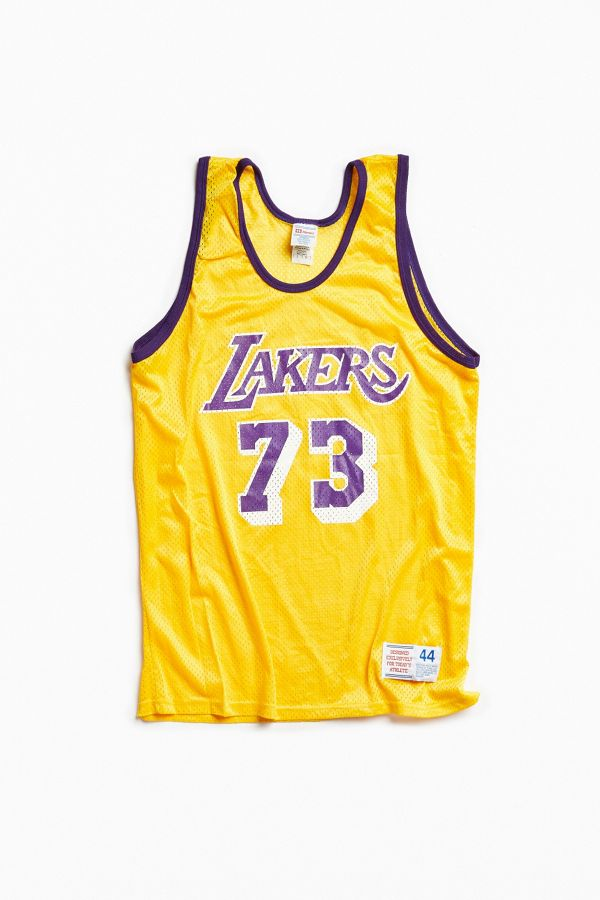 pretty nice 27317 15c4c Vintage Rodman Lakers Jersey | Urban Outfitters