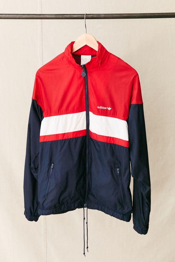 36825cfbcf38 Slide View  1  Vintage adidas Red White + Blue Windbreaker Jacket