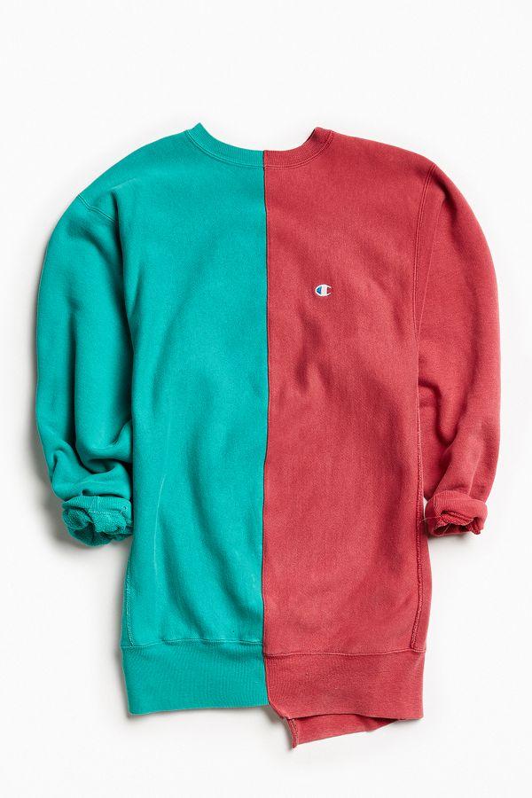cb3451de655d Vintage Champion Green Raspberry Split-Seam Crew Neck Sweatshirt ...