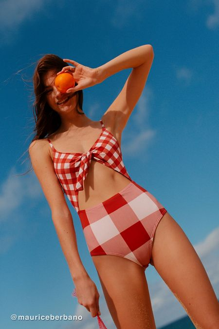 56a77e7e5df Out From Under Printed Tie-Front One-Piece Swimsuit · Quick Shop