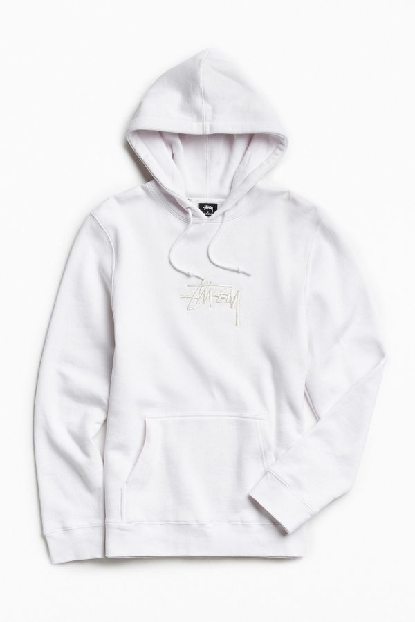 20b1007b2 Stussy Stock Embroidered Hoodie Sweatshirt | Urban Outfitters