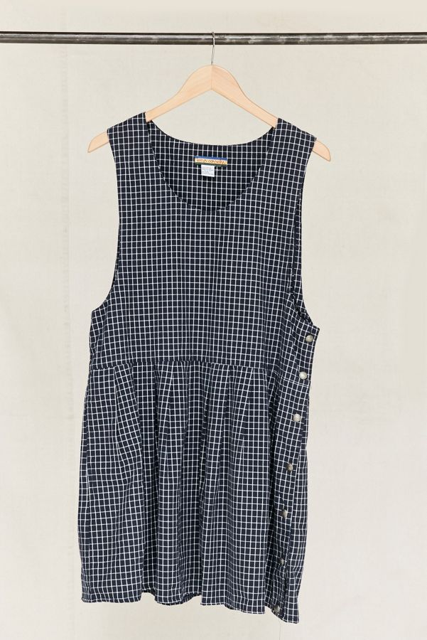 Vintage Navy Checkered Dress | Urban Outfitters