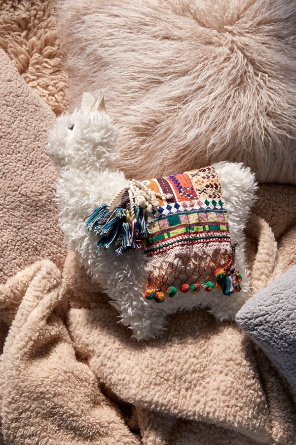 c4899e406978 Slide View  1  Furry Llama Pillow