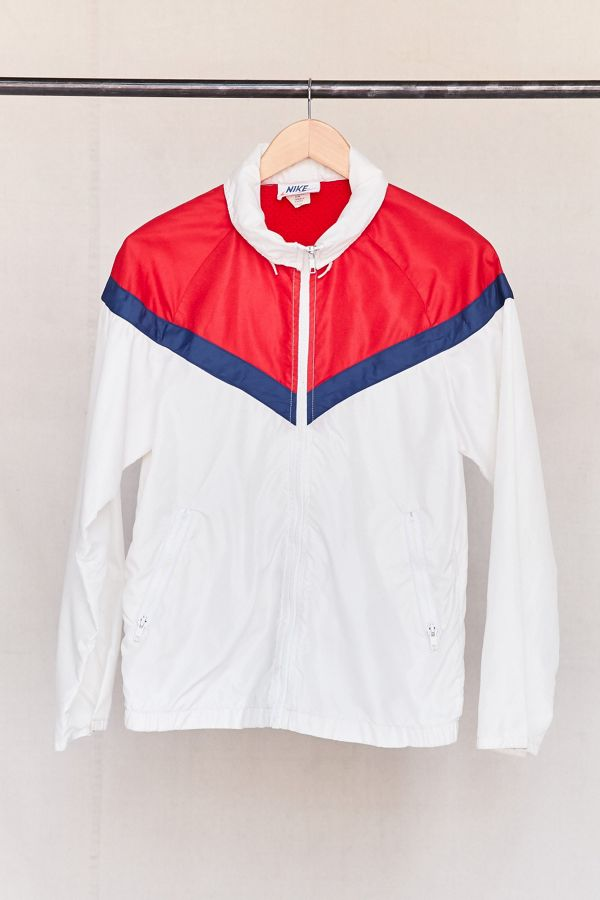 4d4f6ea1169f Vintage Nike Red White Blue 70s Windbreaker Jacket