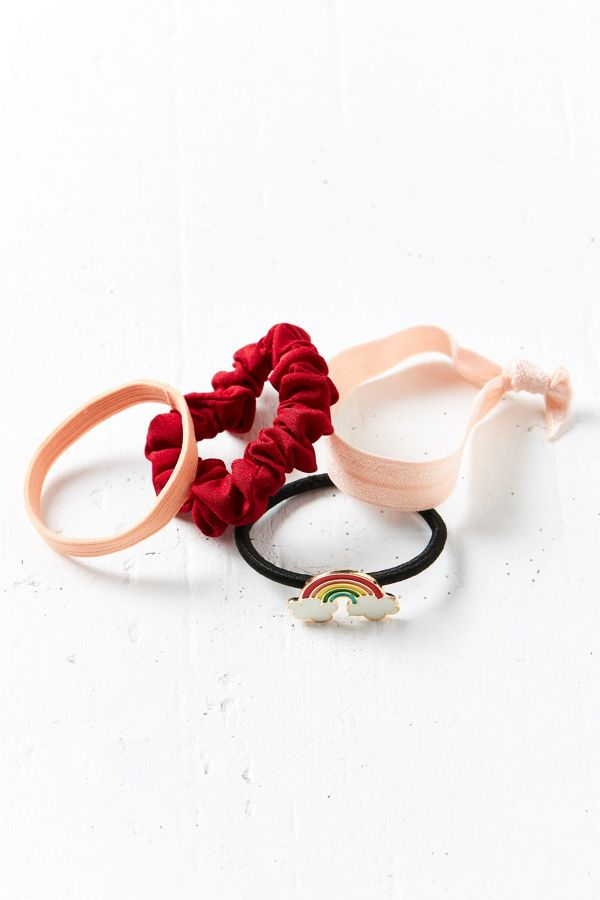 Enamel Pin Ponytail Holder Set