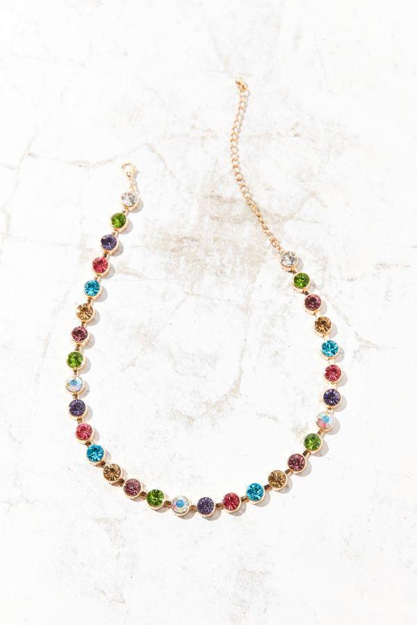 3983f3bf615f7 Eleni Rainbow Choker Necklace