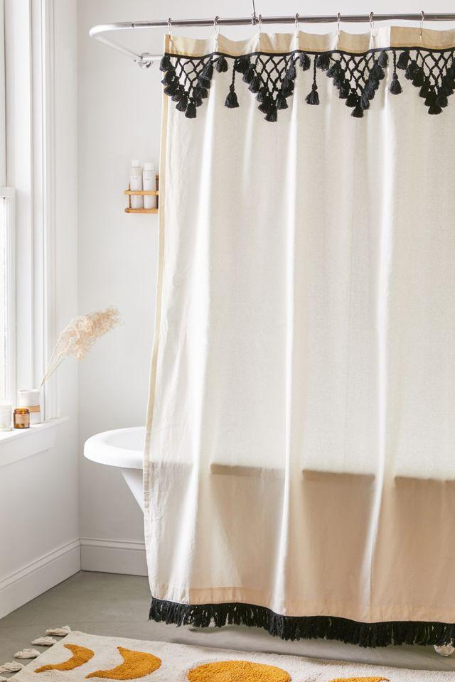 Topanga Fringe Shower Curtain Urban Outfitters
