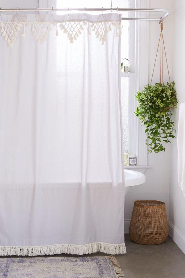 Slide View: 1: Topanga Fringe Shower Curtain