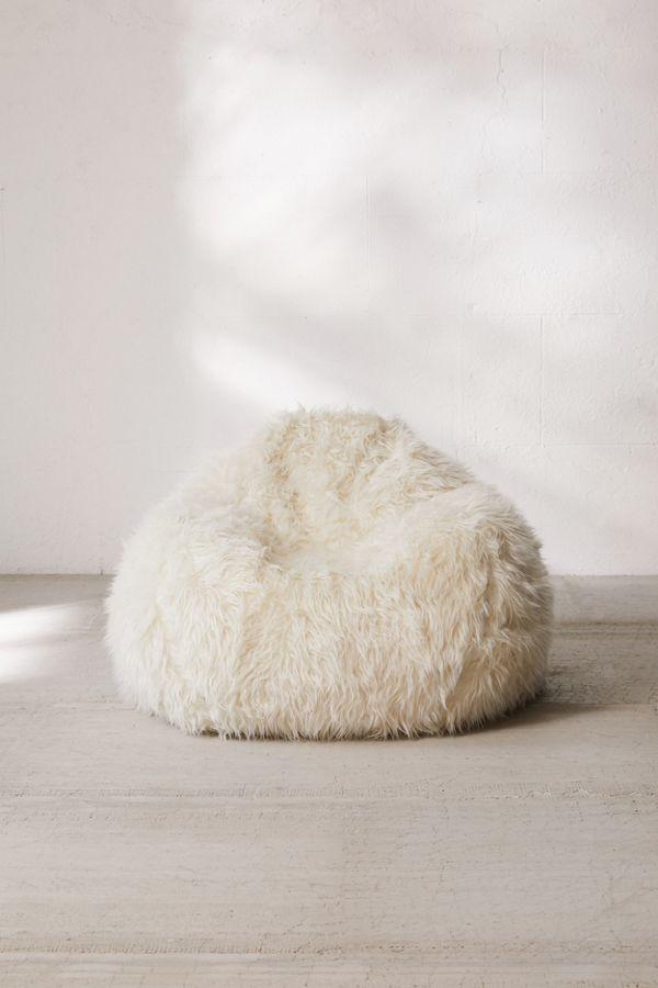 Awe Inspiring Aspyn Faux Fur Shag Bean Bag Chair Forskolin Free Trial Chair Design Images Forskolin Free Trialorg