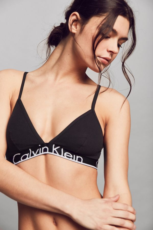 aa17145b1a Calvin Klein ID Cotton Wide Band Triangle Bra