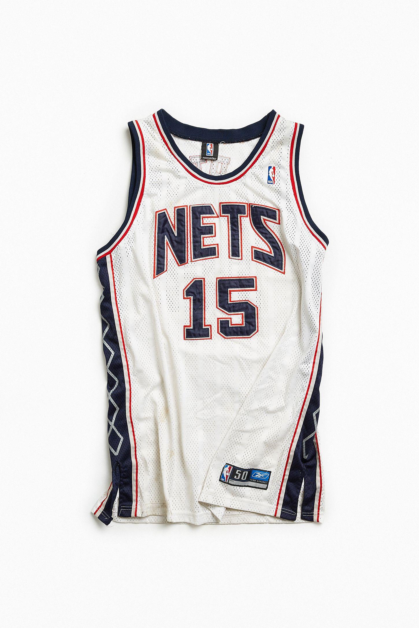 edf16d5ca5a Vintage NBA New Jersey Nets Vince Carter Basketball Jersey