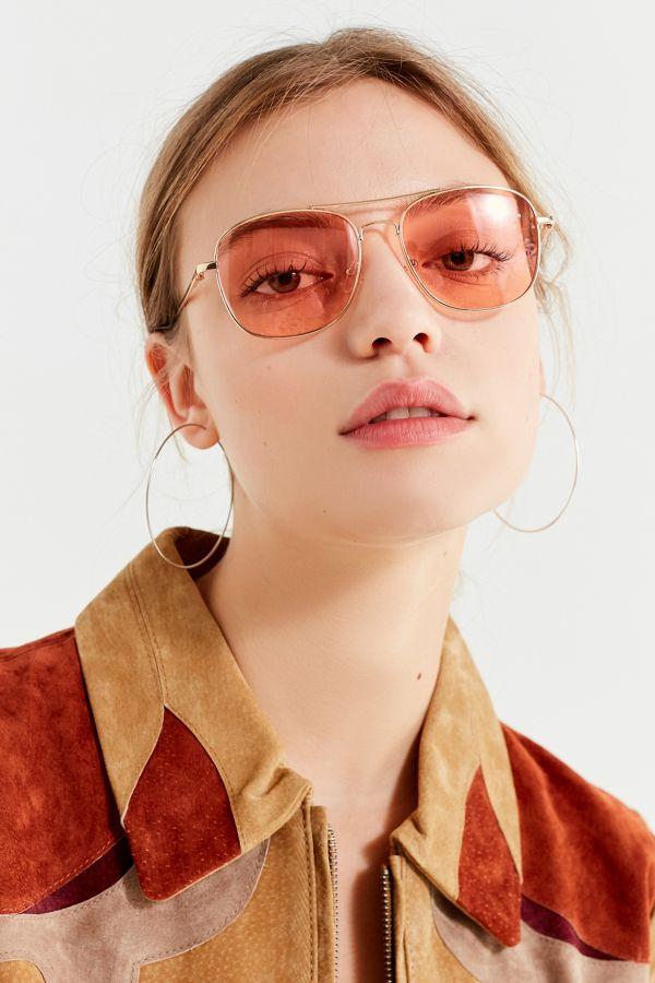 Sunglasses Translucent Out Far Aviator Metal N08wOPXnk