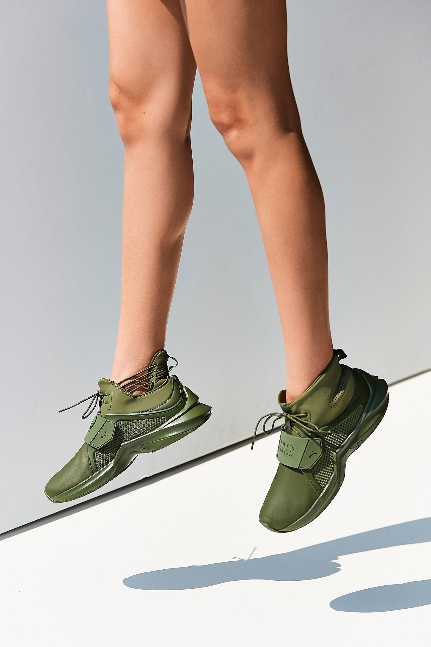 new product c4303 774e6 Puma Fenty by Rihanna Trainer Hi Leather Sneaker