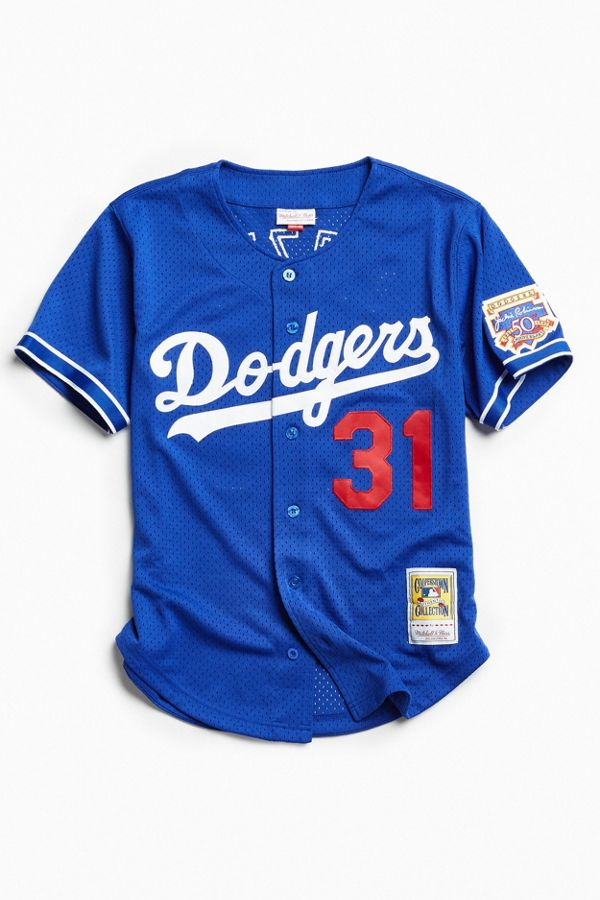 new concept 97bad a14c0 Mitchell & Ness MLB Los Angeles Dodgers Button Front Jersey