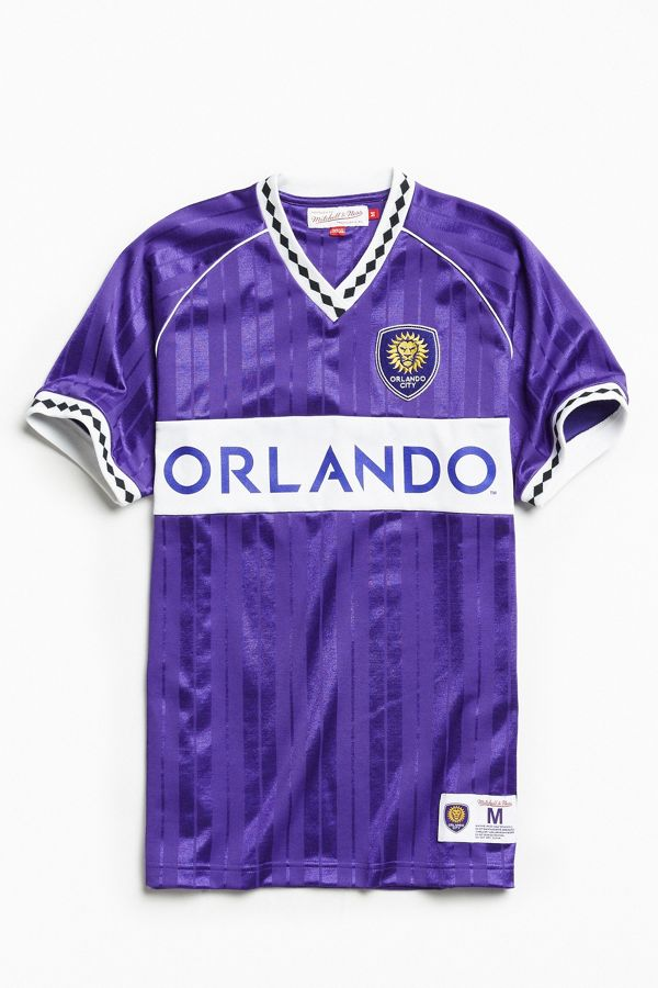 sports shoes 91b57 6206f Mitchell & Ness Penalty Orlando City Soccer Jersey