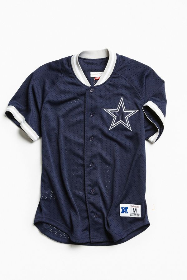 best sneakers 0b9a8 623c3 Mitchell & Ness Dallas Cowboys Pro Mesh Button Front Jersey