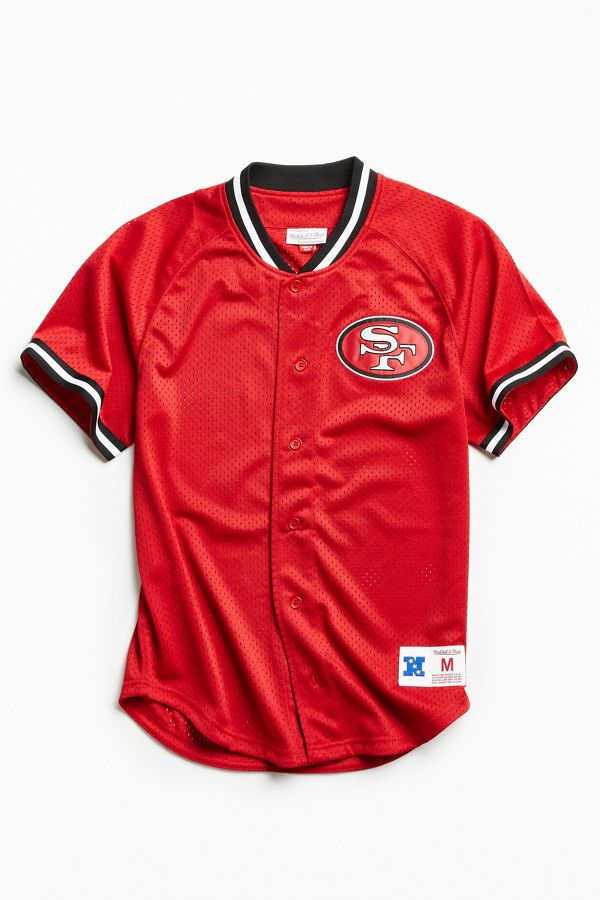 new product ad680 4b719 Mitchell & Ness NFL San Francisco 49ers Pro Mesh Button Front Jersey