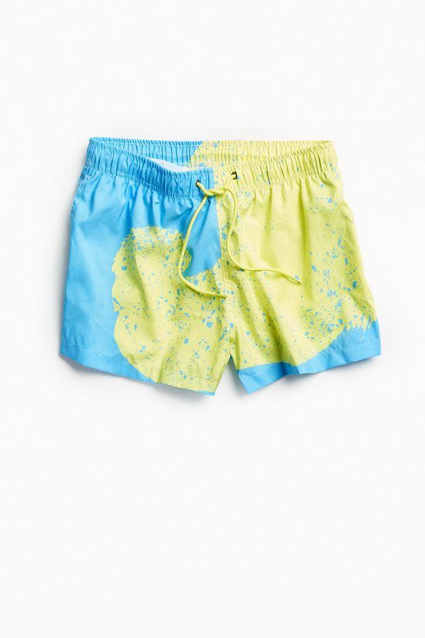 185ab352e1945 Boardies® Venice Yellow Swirl Shorties Swim Trunk | Urban Outfitters