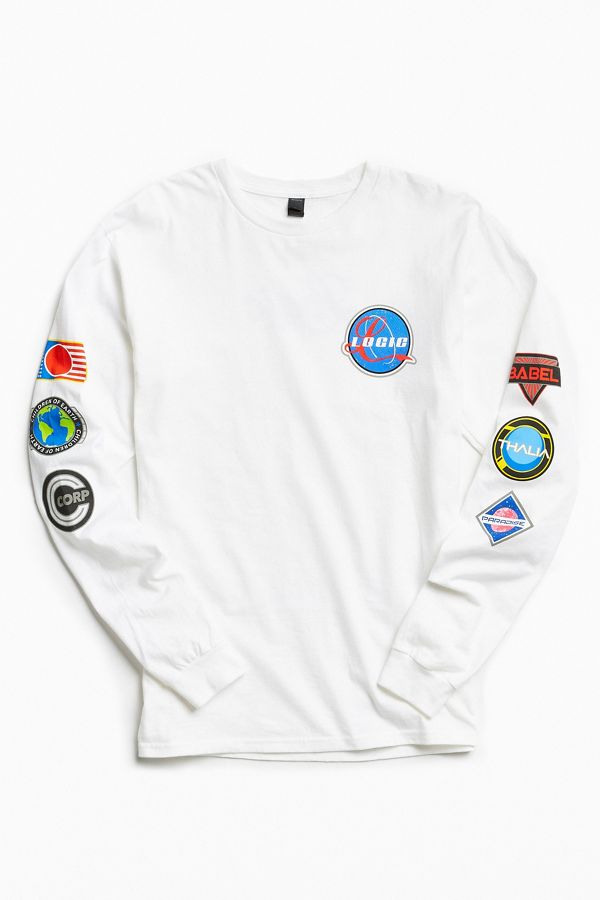 e260a8bc534b Logic Space Patches Long Sleeve Tee   Urban Outfitters