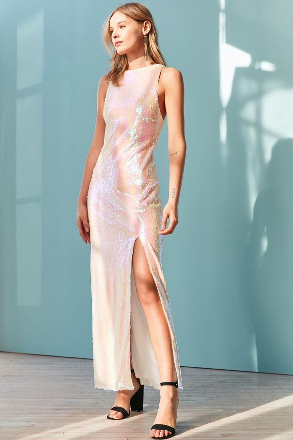 2f3daaa1ba Glamorous Iridescent Sequin Maxi Dress | Urban Outfitters