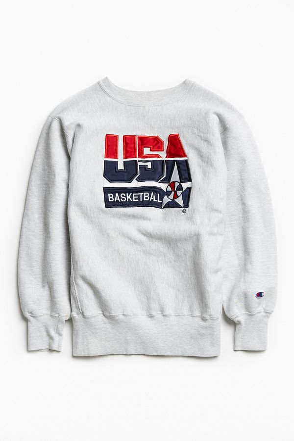 be31a18f26bb Lyst · Lyst · Champion Crew Neck USA Sweatshirt Grey · Vintage ...