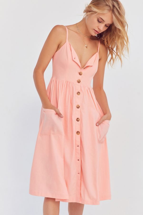 68055f208 Cooperative Emilia Button-Down A-Line Midi Dress | Urban Outfitters