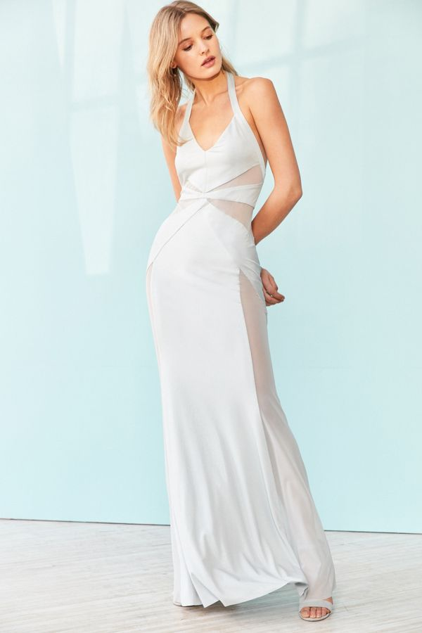 c1c27262eb1e5 Silence + Noise Electra Mesh Maxi Dress | Urban Outfitters