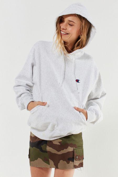 d1d4a858e28 Champion Reverse Weave Logo Hoodie Sweatshirt