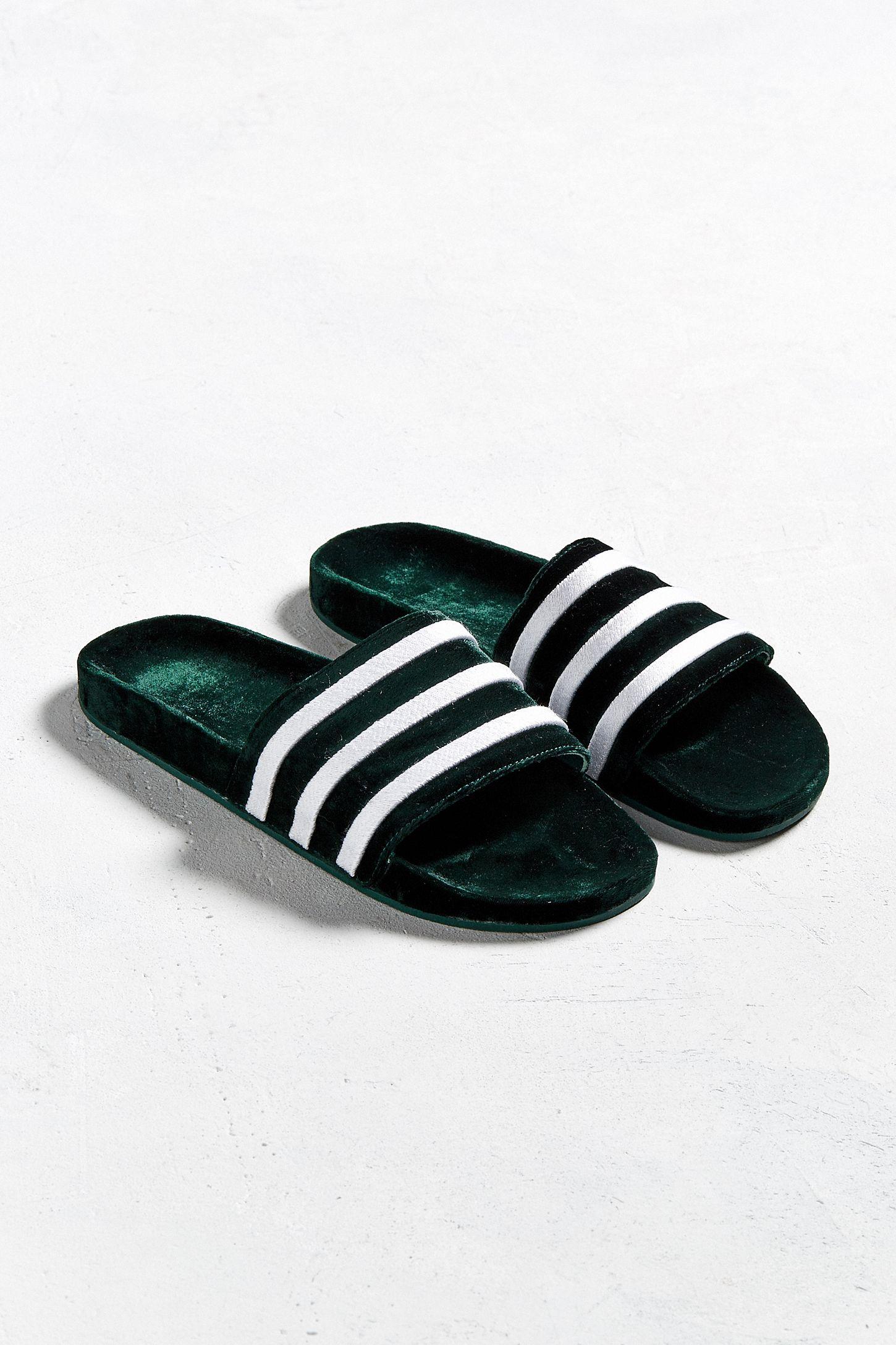 622f3493e adidas Adilette Velvet Slide Sandal