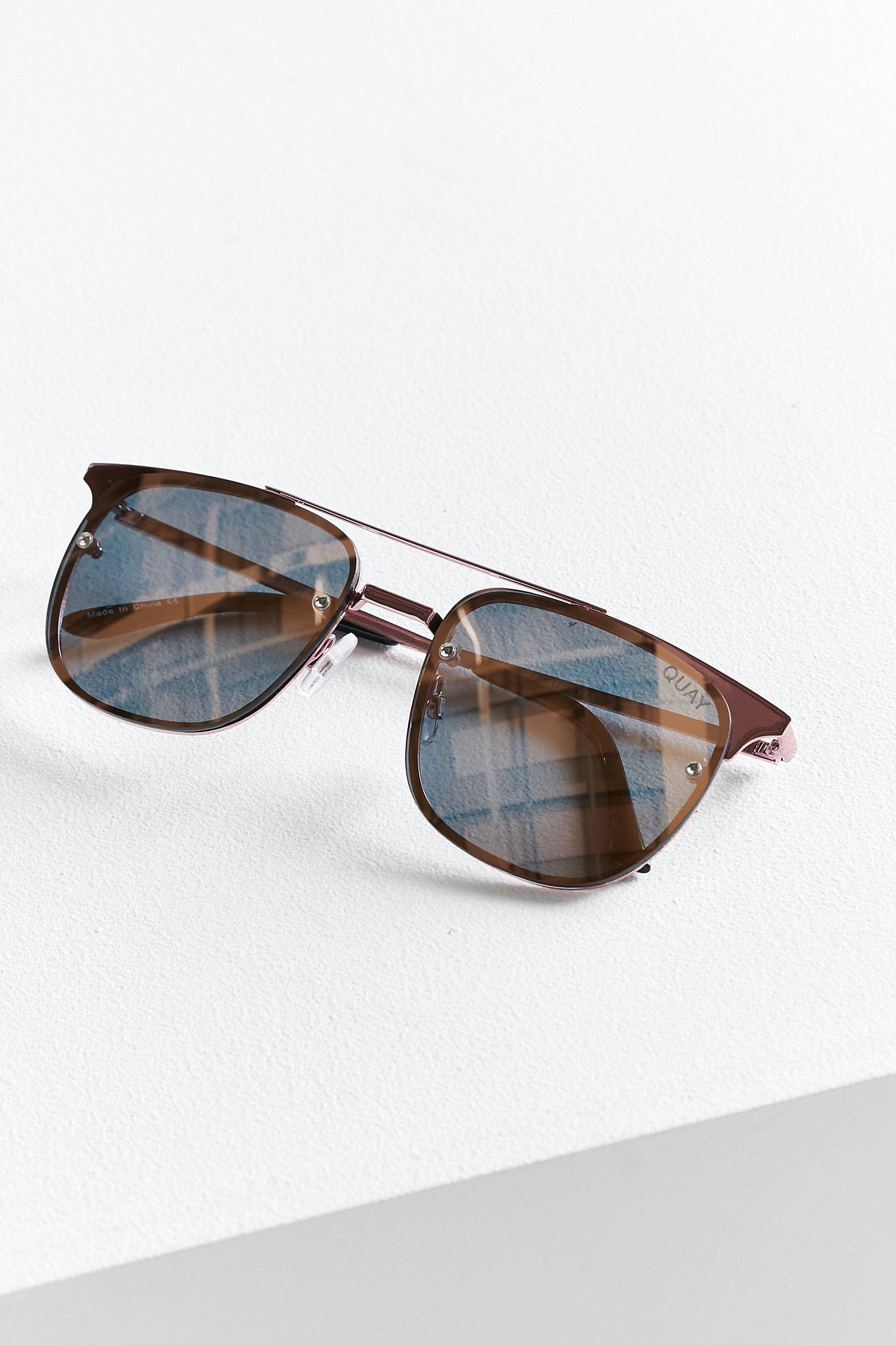 ba7b5ab0dd3a7 Quay Private Eyes Aviator Sunglasses
