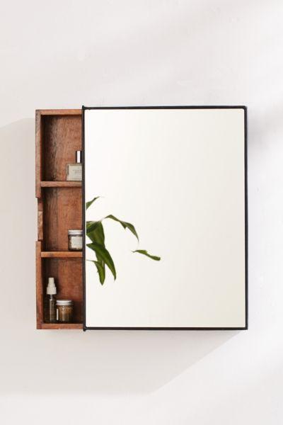 Plymouth Sliding Storage Mirror Urban, Bathroom Mirror Storage