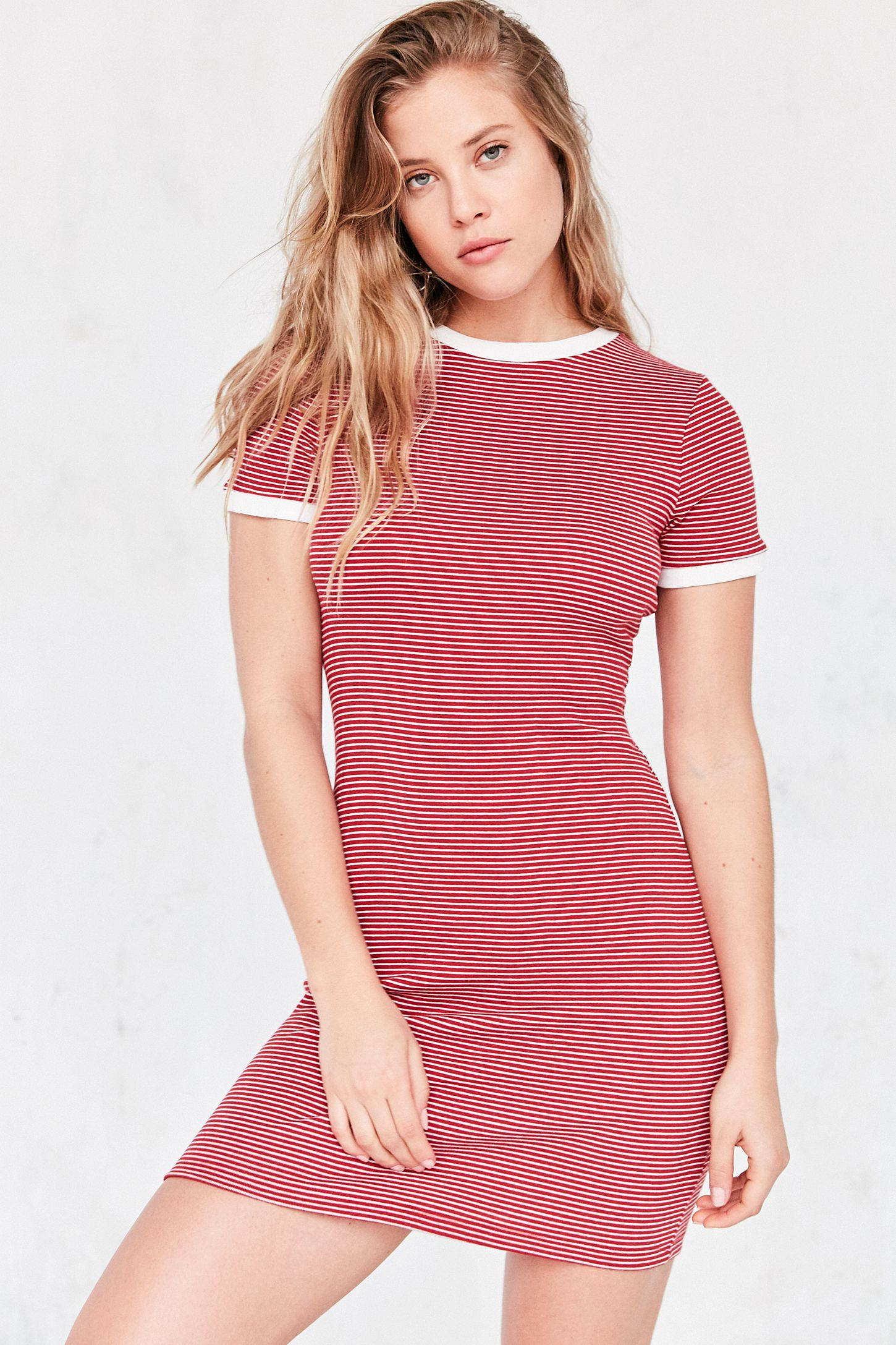 a2d48587a BDG Striped Bodycon T-Shirt Dress | Urban Outfitters Canada