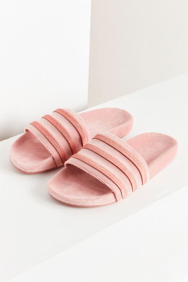 7cfcd067ebb79 adidas Originals Adilette Velvet Slide