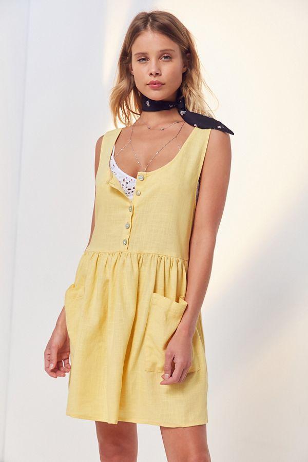 536bbdb592 Cooperative Oversized Linen Babydoll Dress