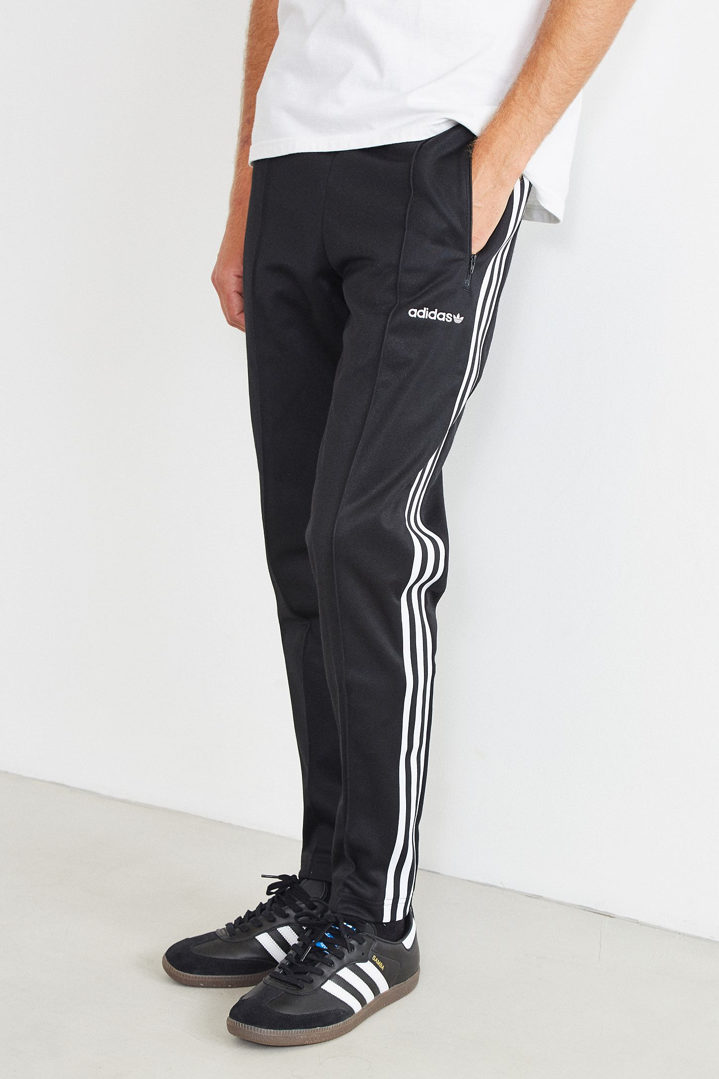 4eee332a6b40 adidas Beckenbauer Open Hem Track Pant. Tap image to zoom. Hover to zoom.  Double Tap to Zoom