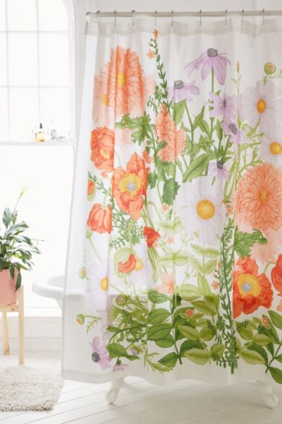 Marina Floral Shower Curtain Urban Outfitters