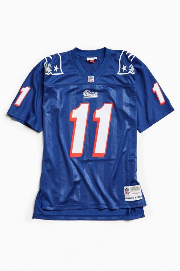 premium selection 49a8c 8ecb5 Mitchell & Ness Replica New England Patriots Jersey