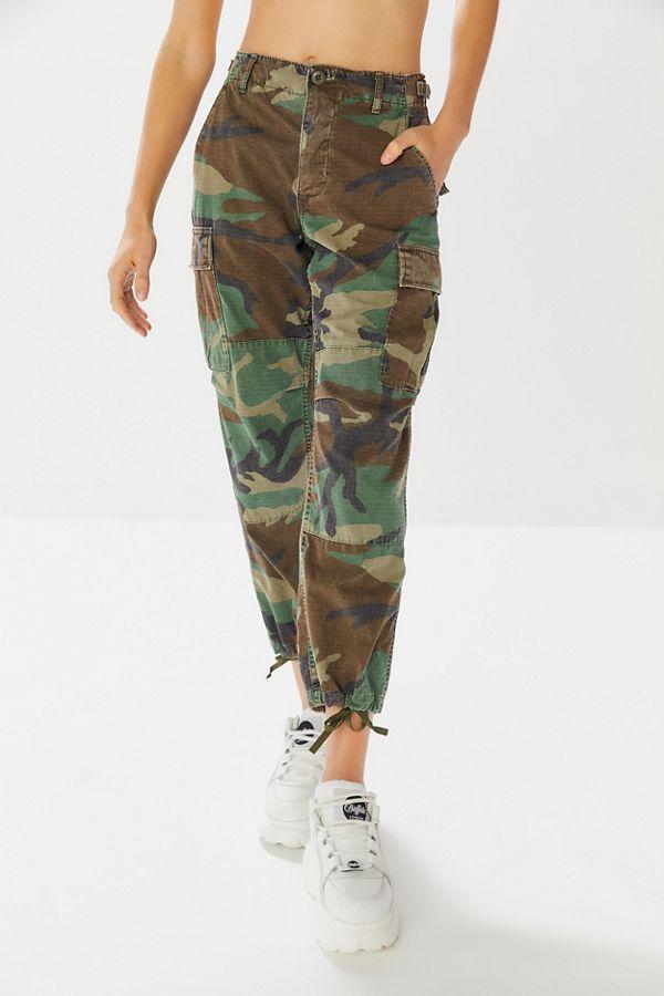 Pantalon Camouflage Lavé D'armée À La Vintage Pierre wOkPXiZuT