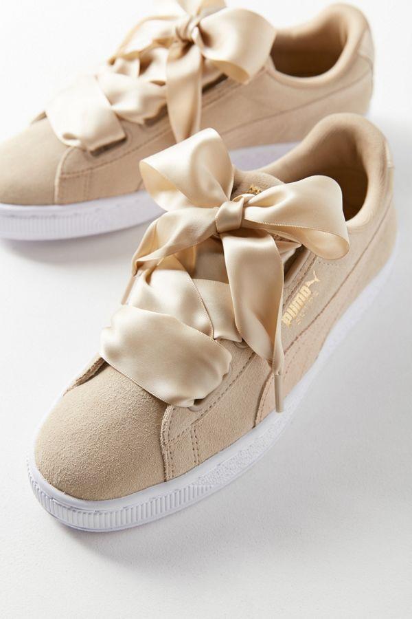 brand new 434b1 b4ab1 Puma Basket Heart Metallic Safari Sneaker