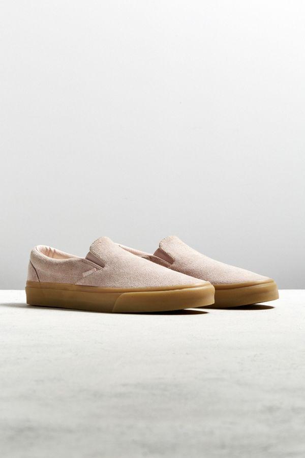 Vans Classic Suede Slip On Gum Sole Sneaker
