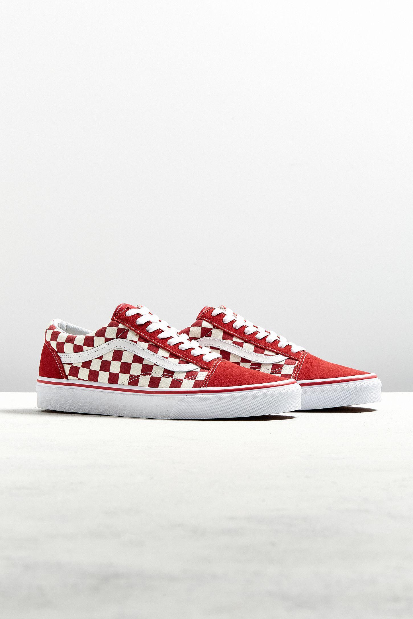 4b74342e46 Vans Old Skool Racing Red Checkerboard Sneaker
