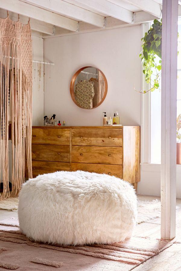 Prime Aspyn Faux Fur Shag Ottoman Andrewgaddart Wooden Chair Designs For Living Room Andrewgaddartcom