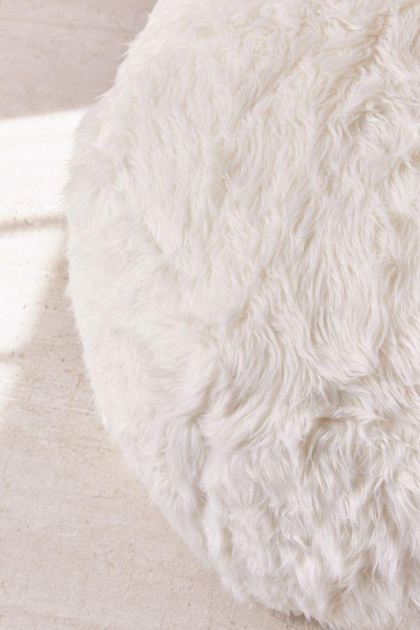 Amazing Aspyn Faux Fur Shag Ottoman Andrewgaddart Wooden Chair Designs For Living Room Andrewgaddartcom