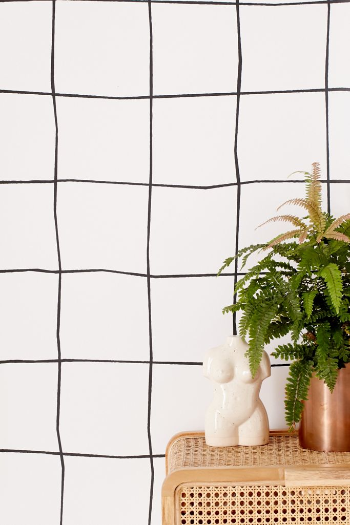 Wonky Grid Removable Wallpaper Urban Outfitters