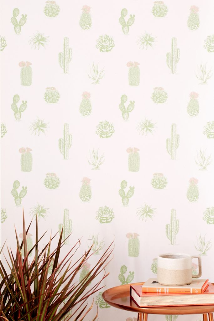 Cactus Icon Removable Wallpaper Urban Outfitters