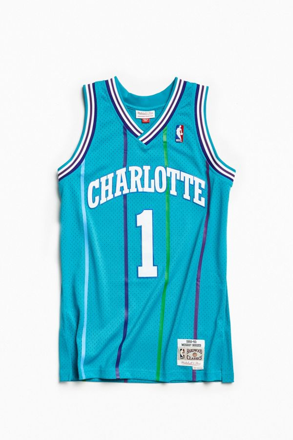 ed0adc3a8 Mitchell   Ness Charlotte Hornets Muggsy Bogues  92 –  93 Basketball ...